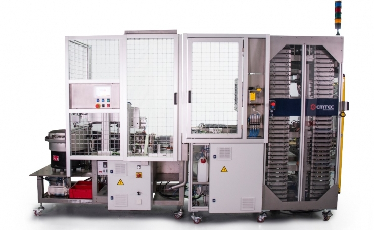 Machine for insertion, verification, extraction and lubrication of inserts